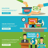 Charity Banners Set Stock Photography