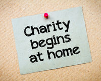 Charity begins at home Stock Photo