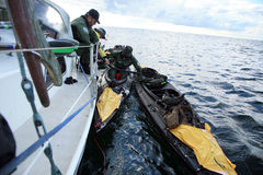 Charity canoe trip - Bornholm Stock Photos