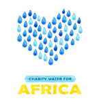 Charity clean Water poster. Social illustration about problems Africa. Giving donations for African children and people. Foundatio Stock Images