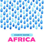 Charity clean Water poster. Social illustration about problems Africa. Giving donations for African children and people. Foundatio Stock Photos