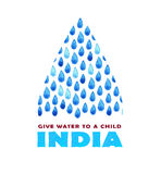 Charity clean Water poster. Social illustration about problems India. Giving donations for Indian children and people. Foundation. Charity Water poster. Social Stock Image