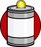 Charity collecting donation can. Illustration of a charity collecting or donation can Stock Images