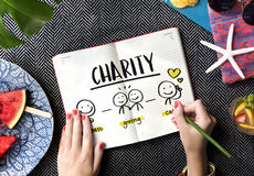 Charity Community Share Help Concept. Charity Community Share Care Help Royalty Free Stock Image
