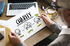 Charity Community Share Help Concept. Charity Care Giving Goodness Concept Stock Photo