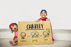 Charity Community Share Help Concept. Children Charity Community Share Concept Stock Image