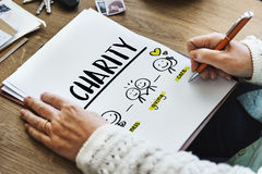 Charity Community Share Help Concept. Charity Community Giving Care Concept Stock Image
