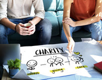 Charity Community Share Help Concept. People Making Charity Community Share Help Royalty Free Stock Image