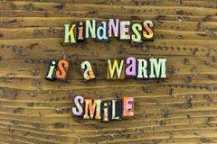 Kindness is warm smile charity royalty free stock images