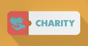 Charity Concept in Flat Design. Stock Photography