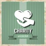 Charity Concept on Green in Flat Design. Stock Images