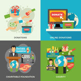 Charity Concept Icons Set Royalty Free Stock Photos