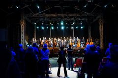 Charity concert for Colectiv victims Stock Image