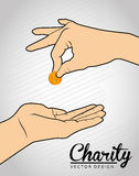 Charity design Royalty Free Stock Images