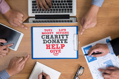 CHARITY DONATE Give Concept Royalty Free Stock Images