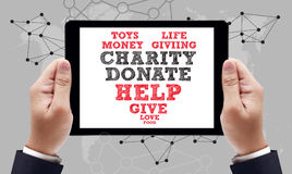 CHARITY DONATE Give Concept Royalty Free Stock Image