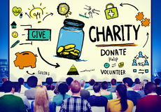 Charity Donate Help Give Saving Sharing Support Volunteer Concep Stock Photo
