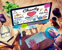 Charity Donate Welfare Generosity Charitable Giving Concept Stock Photos