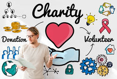 Charity Donate Welfare Generosity Charitable Giving Concept Royalty Free Stock Image