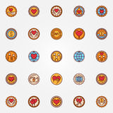 Charity and donation colorful badges Stock Photography