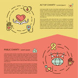 Charity and donation concept set Royalty Free Stock Photo