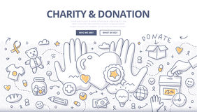 Charity & Donation Doodle Concept Royalty Free Stock Image