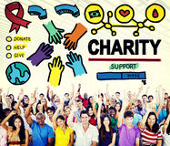 Charity Donation Give Help Support Concept Stock Images