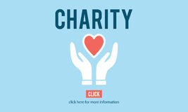 Charity Donation Help Support Charitable Assistance Concept.  Royalty Free Stock Images