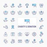 Charity & Donation Icon Set stock image