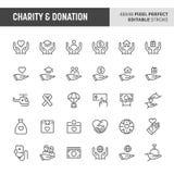 Charity & Donation Icon Set royalty free illustration