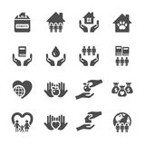 Charity and donation icon set 2, vector eps10 Stock Photography