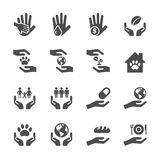 Charity and donation icon set 7, vector eps10 Stock Images