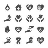 Charity and donation icon set 3, vector eps10 Royalty Free Stock Images