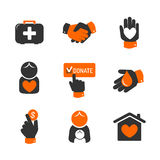 Charity and donation icons Royalty Free Stock Photography