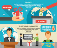 Charity And Donations Banners Set Royalty Free Stock Photography