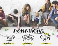 Charity Donations Fundraising Nonprofit Volunteer Concept Royalty Free Stock Photos