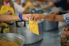 Charity food for the poor people to enjoy eating.  royalty free stock images