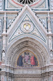 Charity among the founders of Florentine philanthropic institutions, Florence Cathedral Royalty Free Stock Photography