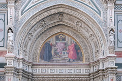 Charity among the founders of Florentine philanthropic institutions, Florence Cathedral. Charity among the founders of Florentine philanthropic institutions Stock Images