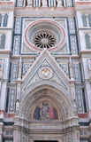 Charity among the founders of Florentine philanthropic institutions, Florence Cathedral Royalty Free Stock Image