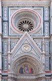 Charity among the founders of Florentine philanthropic institutions, Florence Cathedral Royalty Free Stock Images