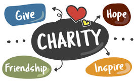 Charity Give Assistance Care Volunteer Support Concept. Charity Give Assistance Care Volunteer Support Stock Photo
