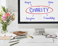 Charity Give Hope Inspiration Friendship Concept royalty free stock photos