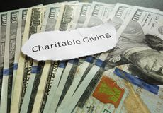 Charity giving Royalty Free Stock Image