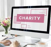 Charity giving helping people together Stock Images