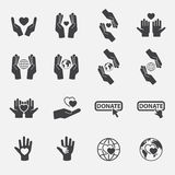Charity icon set.vector. Royalty Free Stock Images