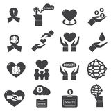 Charity  icon vector silhouette Royalty Free Stock Image