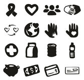 Charity Icons Freehand Fill Royalty Free Stock Image