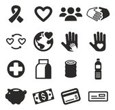 Charity Icons Stock Images