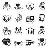 Charity icons Stock Photo